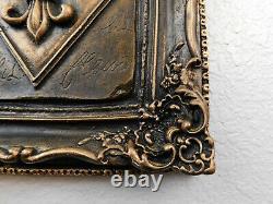 GOLD Fleur de Lis Wall Plaque, New Orleans, Saints, French, Louisiana Decor NEW