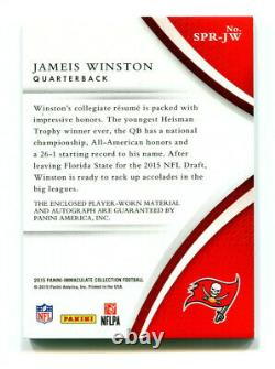 JAMEIS WINSTON 2015 Panini Immaculate Rookie RC Auto Jersey Patch RPA AU SP 5/49