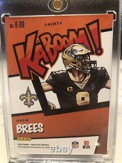 KABOOM Drew Brees KABOOM! 2020 Panini Absolute Football K-DB Saints