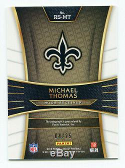 MICHAEL THOMAS 2016 Panini Select Prizm Tie Dye Rookie RC Auto Autograph SP 4/25