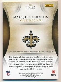 Marques Colston 2014 Immaculate Insignias Nike Logo Game Worn Patch Sp #3/6