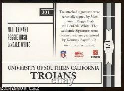 Matt Leinart Reggie Bush Lendale White 06 Leaf Limited Auto 1/1 USC Signed