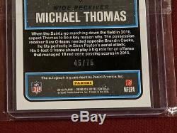 Michael Thomas 2016 Optic Rated Rookie on card Auto Blue /75 #186