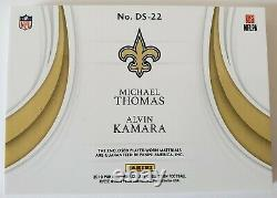 Michael Thomas Alvin Kamara 2019 Immaculate Dual Logo Shield Patch True 1/1