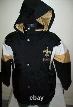 NEW ORLEANS SAINTS STARTER Hooded Jacket S, M, L, XL, 2X
