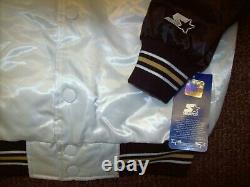 NEW ORLEANS SAINTS Starter Throwback Snap Down Jacket S M L XL WHITE