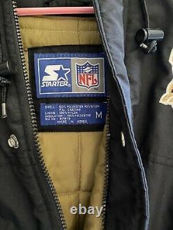 NFL New Orleans Saints Vintage Starter Parka Jacket Medium Excellent Condition