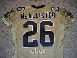 New Orleans Saints Deuce Mcallister Jersey 2002 Saints Game Cut Jersey Size 52