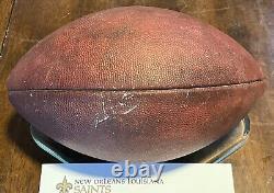 New Orleans Saints Drew Brees 3 TD Game Used Ball Wilson Duke Football COA