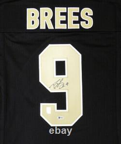 New Orleans Saints Drew Brees Autographed Signed Black Jersey Beckett 146373