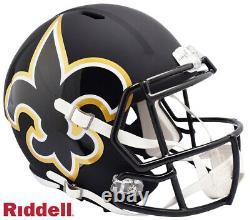 New Orleans Saints Full Size AMP Speed Replica Helmet New In Box 25771
