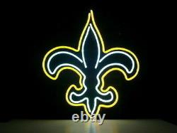 New Orleans Saints Logo Neon Light Sign 17x14 Lamp Beer Bar Pub Glass Decor