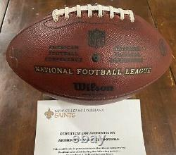 New Orleans Saints Many Games Game Used Football 2014 Seasons Ball Drew Brees