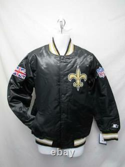 New Orleans Saints Mens Sizes S-M-L-XL-2XL England Flag Black Starter Jacket
