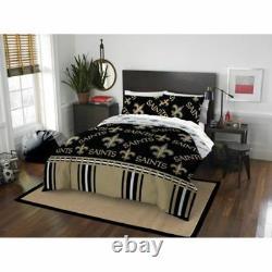 New Orleans Saints NFL Queen 5 Piece Comforter Bedding Team Logo Bed in Bag Set
