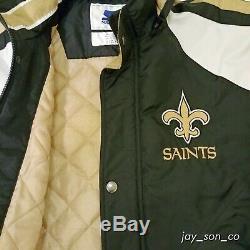 New Orleans Saints Starter Vintage REGULATOR Hooded Removable Zip/Button Jacket