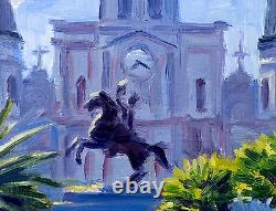 New Orleans St. Louis Cathedral 12x16 Artist, Giclee Print, Impressionism