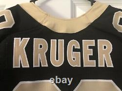 Nike Authentic Elite Paul Kruger Player Issued New Orleans Saints Jersey PROCUT