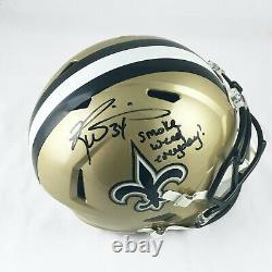 Ricky Williams New Orleans Saints Signed Full Size Gold Speed Replica Helmet JSA