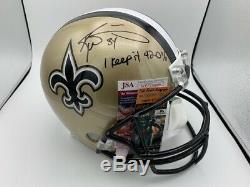 Ricky Williams Signed New Orleans Saints Full Size Helmet I keep It 420% JSA