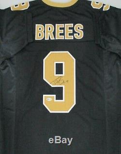 Saints DREW BREES Signed Custom Replica Jersey AUTO MVP SB Champ Beckett COA