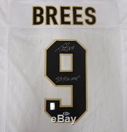 Saints Drew Brees Autographed Signed White Jersey Sb XLIV Mvp Beckett 146375
