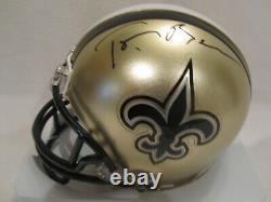 Saints Owner Tom Benson Autographed New Orleans Saints Mini Helmet JSA Cert