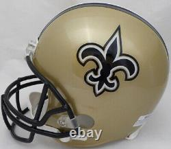 Sale! Drew Brees Autographed Signed Saints Full Size Replica Helmet Beckett