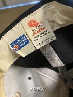 Vintage 90s New Orleans Saints NFL New Era Plain Logo SnapBack Hat Cap EUC