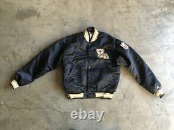 Vintage New Orleans Saints Starter Satin Bomber Jacket sz Medium