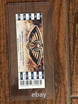 ZION WILLIAMSON NEW ORLEANS PELICANS NBA DEBUT 1st Game FULL TICKET STUB 1/22